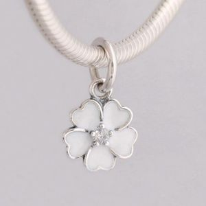 Pandora White Primrose Dangle